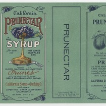 [Box label for California Prunectar syrup]