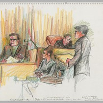 4/20/72 Fingerprint expert Vasos, Court Reporter, Judge Richard Arnason, District Attorney Albert ...