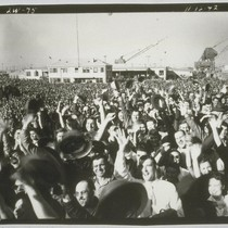 """Fare Thee Well"", workers after launching. November 12, 1942"