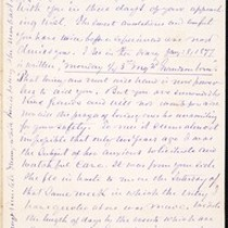 Benjamin Silliman II, letter, 1879 Mar. 30, to Mabel M. Silliman