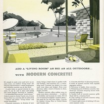 """ADD A 'LIVING ROOM' AS BIG AS ALL OUTDOORS…WITH MODERN CONCRETE!"""