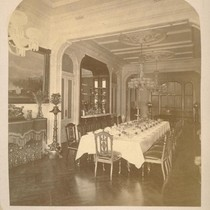 [Dining room. Estate of W.C. Ralston, Belmont, California.]