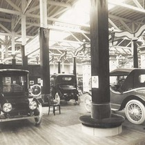 [Electric automobile exhibit, 1915]