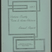 1957 Ventura County Farm & Home Advisors Annual Report