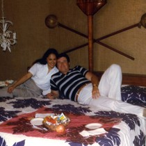 Vince and Patricia Whiting in their room at Coco Palms