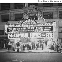 Exterior of the Spreckels Theater for the world premier of a Three ...
