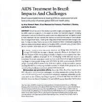 AIDS Treatment in Brazil: Impacts and Challenges [1]