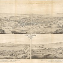 Birds eye view of Los Angeles, 1877