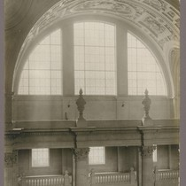 [Arched window and galleries.]
