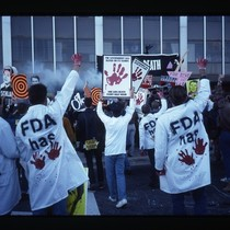 AIDS protest at Federal Drug Administration offices in Washington, DC [1]