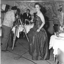 """A.H.P. evening gown & ATP camera"""