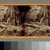 3d fall of the Yosemite, low water. 400 ft. [Yosemite Valley, California.] ...