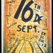 16th de Sept[iembre] - Día de la Independencia, Announcement Poster for