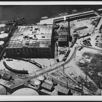 Aerial view of a borax plant, ca.1930
