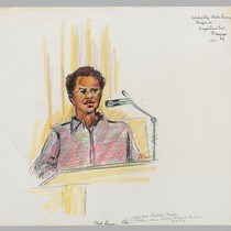 5/23/72 Fleeta Drumgo, Acquitted Soledad Defendant, testifying [at] Angela Davis trial--He awaits ...