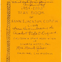 1954-1955 year book of the Fannie Jackson Coppin Club