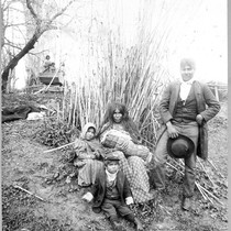 Indian Family at Santa Rosa Rancheria Near Lemoore