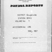 Patrol Reports. Bougainville District, Boku, 1956 - 1957