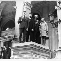 Jack Dusay, Claude Steiner, Eric Berne, and Pam Blum in Vienna
