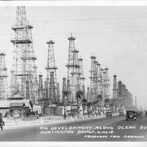 Oil Development Along Ocean Boulevard Huntington Beach, Calif