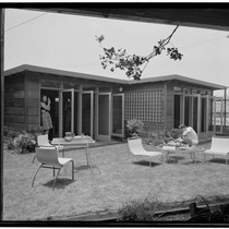 Turner, George, residence. Exterior detail and Outdoor living space