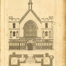 """Edifices of London – Halls, Westminster Hall North front"""