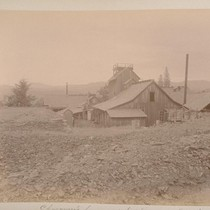 Chavanne's house and hoisting works (West Side). Sheep Ranch (Calaveras Co.). [No.] ...