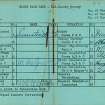 WPA block face card for household census (block 1144) in Los Angeles ...