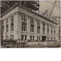 First tier stone facade of Oakland City Hall, July 1912