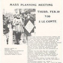 International Women's Day Mass Planning Meeting, flier
