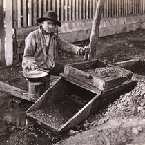 986. Placer Mining in Columbia, Tuolumne County. The Rocker
