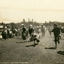 Potato sack race, Kentfield May Day Celebration, 1909 [photograph]