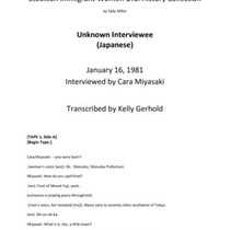 Unknown Japanese Woman interview