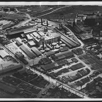 Aerial view of Gladding, McBean & Company (former Los Angeles Pressed Brick ...
