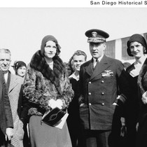 Admiral Richard E. Byrd with Mrs. C. Wesley Hall and others