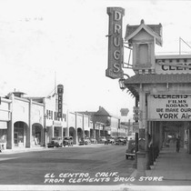 El Centro, Calif., From Clements Drug Store