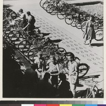 Davis campus. Bicycles provide traditional campus transportation. Library walkway contains time capsules ...