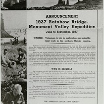 1937 Rainbow Bridge Expedition Announcement