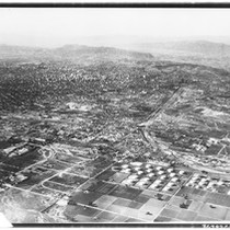 Aerial view by Kenneth W. Montee Photo Service of Los Angeles, 1920-1929