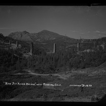 """New Pit River Bridge,"" near Redding, Calif"