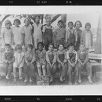 1st and 2nd grade class at Bethel School