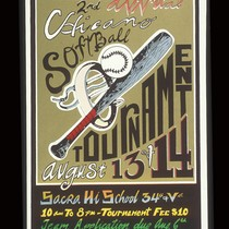 2nd Annual Chicano Softball Tournament, Announcement Poster for
