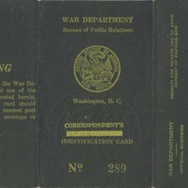 Bureau of Public Relations Correspondent's Identification Card