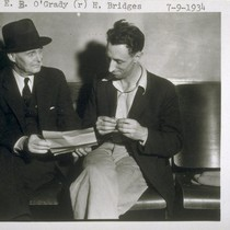 [left] E. B. O'Grady, and [right] Harry Bridges, 7-9-1934