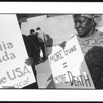 Anti-violence protesters from the Pasadena coalition, 1996