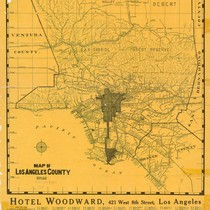 Map of Los Angeles County, 1912