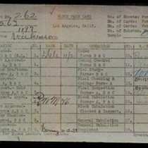 WPA block face card for household census (block 1197) of 79th, Hobart, ...
