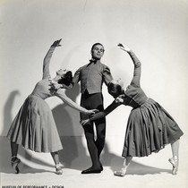 Bobbie Howell, Lew Christensen and Janet Reed in Homesteaders, the first movement ...