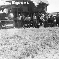 The 1920 harvester used on the Mouren farm