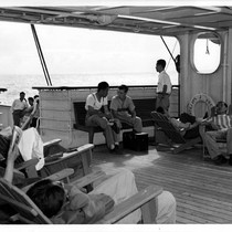 """3rd class deck lounging area P.W."""
